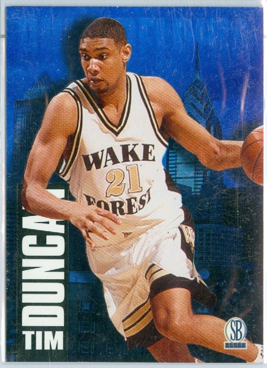 finest selection 51674 c94dc TIM DUNCAN of the SAN ANTONIO SPURS & WAKE FOREST - 1997 ...