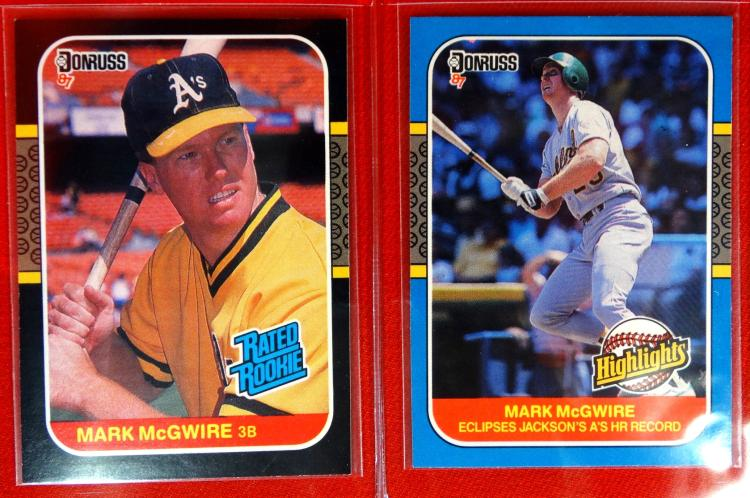 Mark Mcgwire Of The Oakland Athletics As Vintage 1987 Donruss