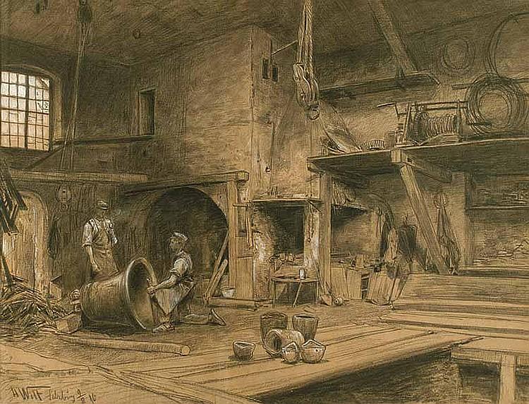 Wilt, Hans: (1867 Wien 1917). Inneres einer