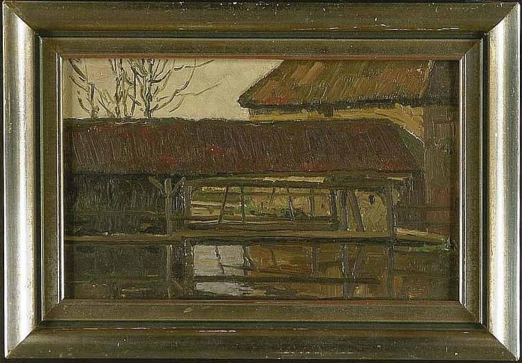 Dussault, Karl: (1860 Karlsruhe 1930). Brücke zum