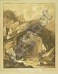 Helbrunn.: Vue d'une grotte près de Helbrunn., Johann Gottlieb Prestel, Click for value