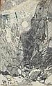 Seitz, Otto: (1846 München 1912). Felsenschlucht, Otto Seitz, Click for value