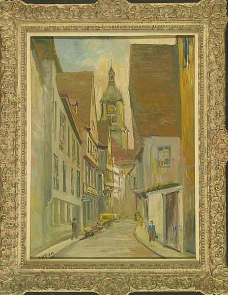 Keller, Oskar: (1894, tätig in Stuttgart). Gasse