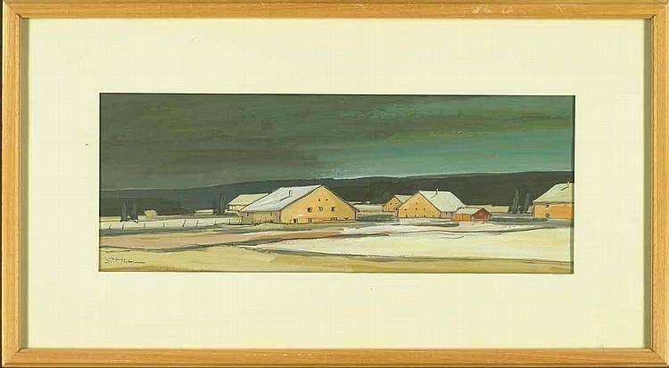 Michel, Pierre (geb. 1924). Verschneite Bauernhöfe
