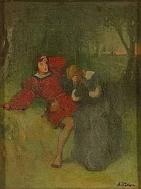 Köhler, A. (um 1900). Nächtliche Szene mit