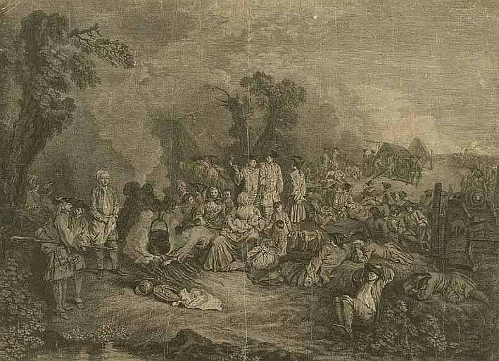 Cochin, Charles-Nicolas I (1688 Paris 1754). Camps