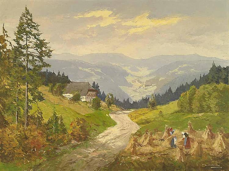 Munding, Anton (1903-1976). Schwarzwaldlandschaft