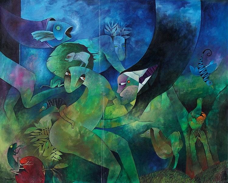 Bonachea, Juan Vicente Rodriguez  (1957 La Habana 2012). Abstrakt figür