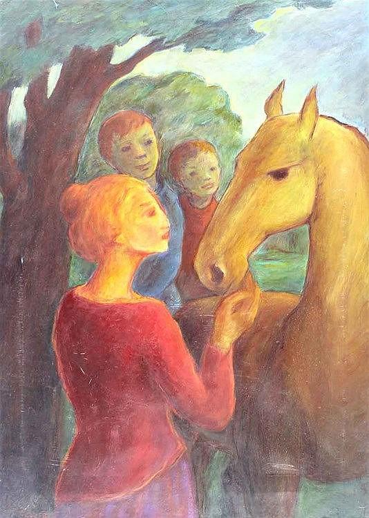 Güntzel, Margot  (1913 Tarnowitz/Oberschlesien). Drei Menschen mit eine