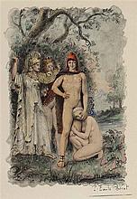 Bécat, Paul Emile (1885 Paris 1960). 6 kolor. Taf. aus Mémoires Secret