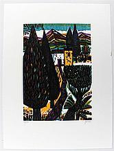 Willand, Detlef (1935 Heidenheim/Brenz). Aquadrat. Farbholzschnitt auf