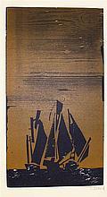 Willand, Detlef (1935 Heidenheim an der Brenz). Drei Schiffe. Farbholz