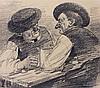 Harburger,  Edmund (1846 Eichstätt   München 1906). Zwei Männer im Wirt, Edmund Harburger, €0