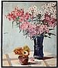 Bakalla,  Rolf (1877   ?). Stillleben mit zwei Blumenvasen. Öl auf Holz, Rolf Bakalla, €0