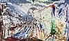 Abstrakte Kunst. 3 Bl. Farbradierungen von 3 versch. Künstlern,  20. Jh, Arun Roy Lucht, €0