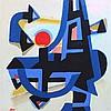 Blümel,  Walter (1921 Trautenau   Leonberg 1997). Abstrakte Komposition, Walter Blümel, €0