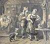 Kindler,  Albert (1833 Allensbach   Meran 1876). Flirtendes Paar in ein, Albert Kindler, €0