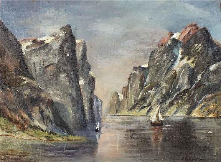 Grüttefien Kiekebusch,  Elisabeth (1871 Berlin   ?). Norwegische Fjordl