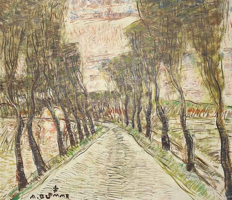 Blomme,  Alfons (1889 Roeselare 1979). Blick entlang eines kleinen Flus