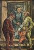 Knapp,  Toni (1902 Schwaz). Eine Frau im Hauseingang,  zwei Männer u. ei, Toni Knapp, €0