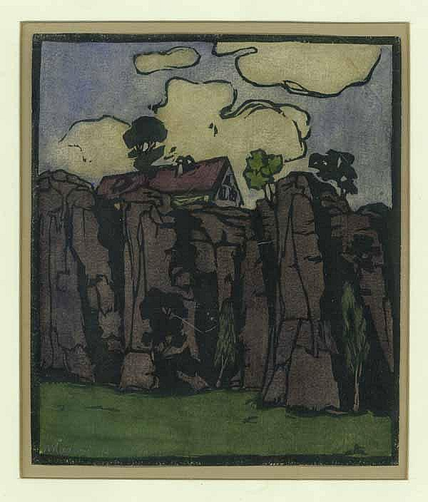 Haas, Hermann (1878 - 1935). Haus über felsigem