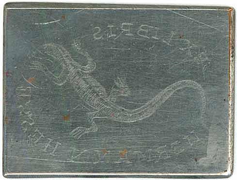 Druckplatte. Exlibris Hermann Hesse, Motiv