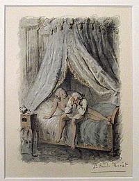 Bécat, Paul Émile (1885 Paris 1960). 7 Bl. kolor.