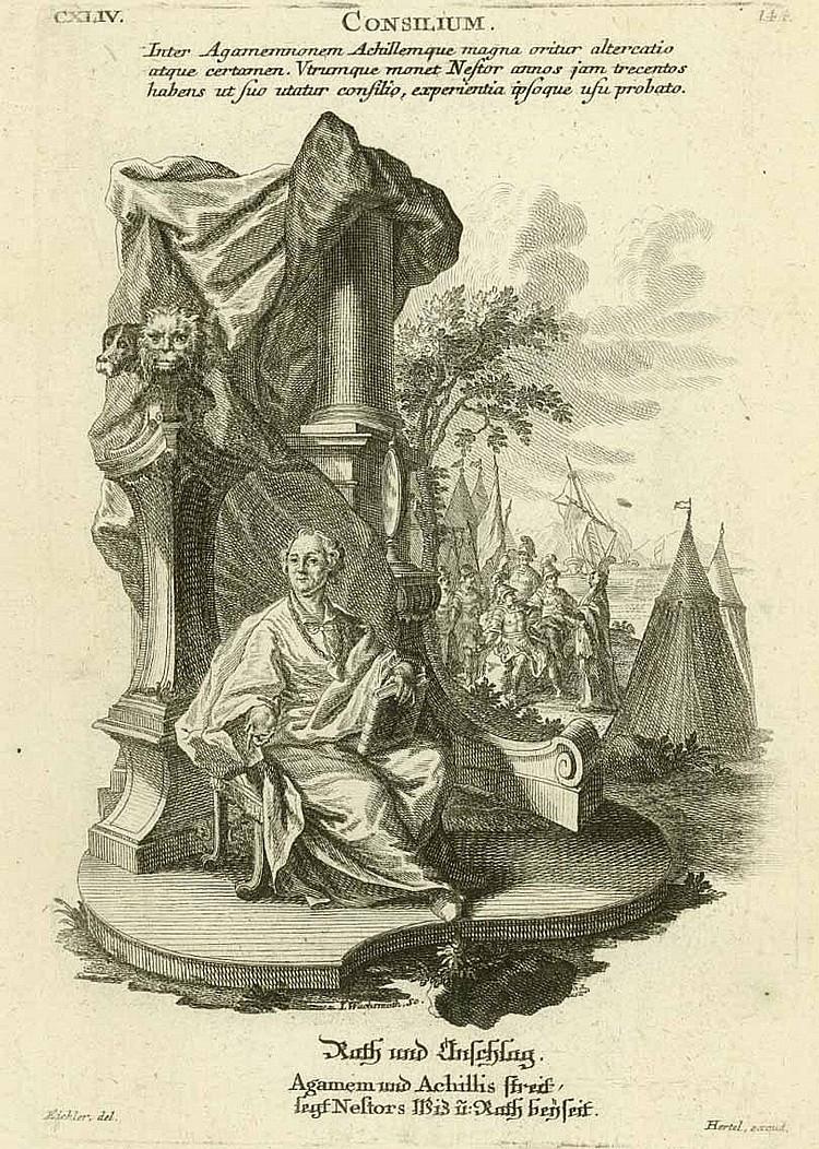 Wachsmuth, Jeremias: (1712 Augsburg 1779). 4 Bl.