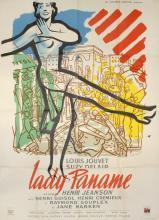 """Jacquelin, Jean - (1905 Paris - Champrond 1989). Filmplakat """"Lady Paname"""