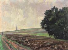 Mohn, Victor Paul - (1842 Meißen - Berlin 1911). Wiesenlandschaft mit Bä