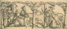 Graf, Urs - (1485 Solothurn - Basel 1527). 4 Szenen aus dem Leben des hl