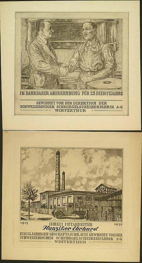 Bernhard, Fritz: (1885 Winterthur 1966). 21 Bl.