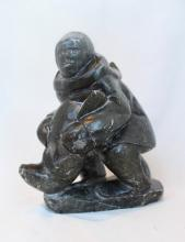 Inuit Stone Carving Of A Hunter