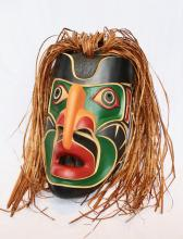 Unidentified, Untitled, Thunderbird Mask, Carved And Painted Cedar