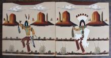 Wallace Watchman (2) Navajo Sand Paintings