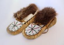 Pair Of Alaskan Children's Beaded Booties