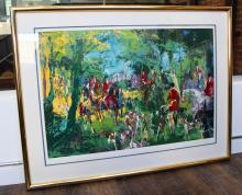 Leroy Neiman, Untitled, Fox Hunt, Coloured Lithograph