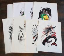 Ten Delmar Johnnie Seletze Serigraphs