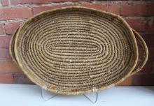 Salish Oval Basketry Handled Tray
