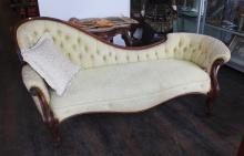 Victorian Rosewood Chaise Longue