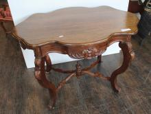 Louis Xv Style Parlour Table, Mahogany, North American, 105 cm Wide