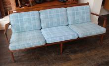 Danish Modern Style Walnut Sofa