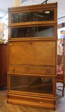 Barrister's Bookcase With Drop Front Secretary Feature