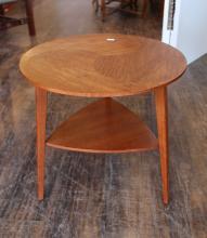 Danish Modern Teak Round Lamp Table