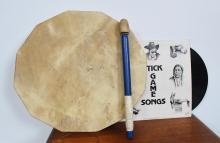 Hide Drum, Tom And Cloth Bag
