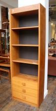 Danish Modern Teak Narrow Bookshelf