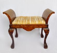 Marquetry Stool With Everted Sides