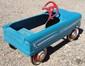 Image 2 for vintage original Blue Western Flyer Pressed Steel pedal car