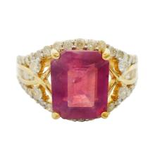 4.00ct Ruby and 0.90ctw Diamond Ring