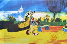Disney How To Play Golf Goofy Serigraph Cel